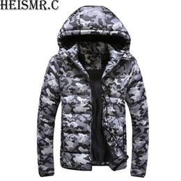 5xl mens parkas Скидка Мужская теплая зимняя куртка пальто мужская камуфляж с капюшоном воротник ватники толстые случайные парки вниз хлопок куртка пиджаки AW27