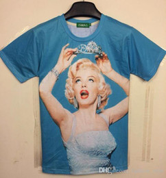 Wholesale Goddess Shirt - tshirt New Fashion Men Women t-shirt printed sexy goddess Marilyn Monroe top tees 3d t shirt women DT66