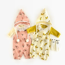 Wholesale baby boy suspender trousers - Baby Brace with Hat Boys Girls Rompers Infant Newborn Jumpsuits Baby Slacks Overalls Long Trousers 0-12M