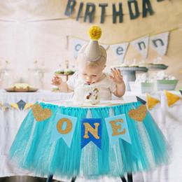 2020 bebê menino primeiro aniversário decorações Primeiro aniversário do bebê azul Rosa Presidente bandeira de um ano da festa de aniversário 1º menina Decoração Menino eu sou um Bunting Supplies bebê menino primeiro aniversário decorações barato