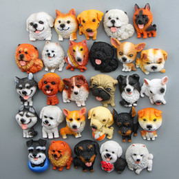 Wholesale Dog Magnets - FOURETAW Cute World Famous Dogs Husky Shepherd Akita Cartoon Kids Education Fridge Magnets Souvenir Blackboard Magnetic Stickers