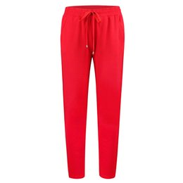 casual bleistift hose für mädchen Rabatt Damenbekleidung Großhandel Mädchen Street Euramerican Buntstift Hosen