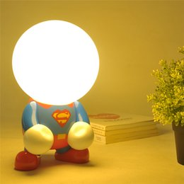 Wholesale christmas decorations desk - Superman led night lights for kids batman Book child light holiday Christmas decoration night lights Bedroom Desk table color light