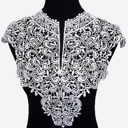 patchs tissu collier garniture décolleté Applique pour robe / mariage / chemise / vêtements / bricolage / couture fleur Floral stand de dentelle brodée ? partir de fabricateur