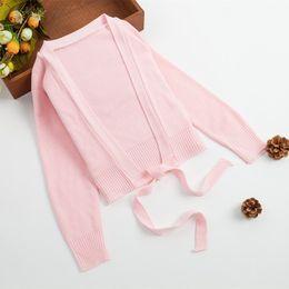 2019 blusas de dança Novas Crianças Primavera Outono Longo-Luva de Dança Xaile Prática Camisola Meninas Engrossar Malha Cardigan Quente Jaqueta Casual Casaco desconto blusas de dança