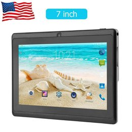 2019 lcd display módulo carro Mais novo 7 polegada Quad-core wifi Tablet PC 512 M + 4 G Q88 Android Tablets com UK / EUA / AU Adaptador de Alimentação