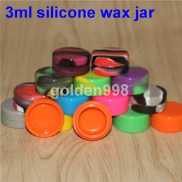 wholesale toys free shipping Coupons - Free shipping!Clear small round silicone rubber container Silicone Nonstick Container for Concentrate non stick wax tub 3ml