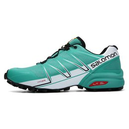 Wholesale professional race - Salomon Speed Cross 3 Speedcross Pro Newest Shoes Cushioning Sport Male Sneakers Professional Athletic Blue Runing Shoes Eur 40-46