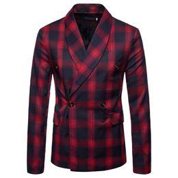 Blazers de mode d'hiver pour hommes en Ligne-Mode Hommes Maillots Costume Rayures Blazers Slim Style occidental Vêtements Business One Button Match Gilet Automne Hiver