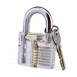 escolha a ferramenta renault Desconto Fechamento profissional Pick Set Transparente Visível Cutaway de Cadeados Treinamento de Serralheiro Praticar Bloqueio Trainer Bloqueio com 2 chaves