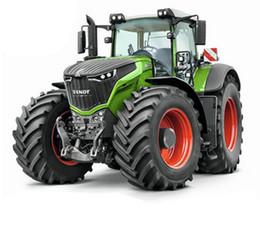 Wholesale Model Farm - RC Truck Farm Tractor 2.4G Remote Control Trailer Dump Rake 4 Wheel Tractor Engineer Vehicle Tractor Model Children Toys