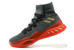 Wholesale Cream Socks - Newest Color 2018 Crazy Explosive Boost Andrew Wiggins Basketball Shoes for High quality Men Socks Sports Training Sneakers Size 7-12