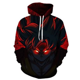Wholesale Dragon Ball Z Cooler - Jamickiki Men's Cool 3D Dragon Ball Z Printed Hoodies Casual Men Loose Pullover Hoodies
