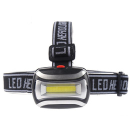 Lâmpadas on-line-COB faróis LED 3 Modos de 600LM Farol Waterproof Flashlight 3x3A bateria Outdoor Head Lamp Camping Caminhadas Luz Caça