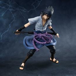Figuras de gemas online-MH GEM Naruto Shippuuden Uchiha Sasuke Pvc Figura de Acción Colección Modelo de Juguete 20cm
