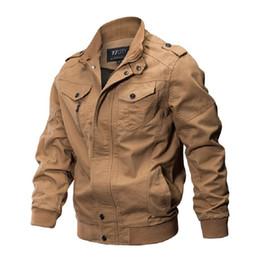 Canada 2018 Hiver Veste Hommes Automne Coton Pilote Veste Manteau Armée Hommes Bomber Vestes Cargo Vol Homme Plus La Taille 6XL cheap army winter jackets Offre