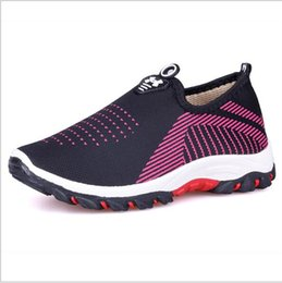 Wholesale anti skid - 2018 new Couple explosions Lazy mesh shoes UA casual breathable anti-skid shoes wading shoes 35pc Free DHL