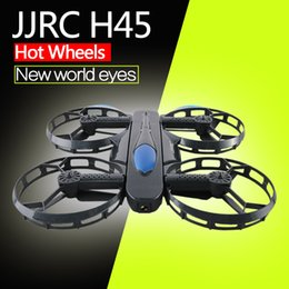 Wholesale Hd Wheels - 2018 JJRC H45 BOGIE Wheel-shaped 720P WiFi FPV Selfie Drone With High Hold Mode Foldable Arm RC Quadcopter Kids Toys