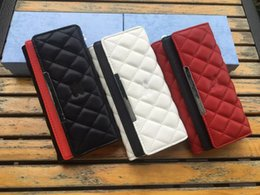 Wholesale Designer Handbags Japan - wholesale fashion England Style women Leather Holders High Quality women Handbags Pocket Card Handbag Wallets Designer Clutch Wallet