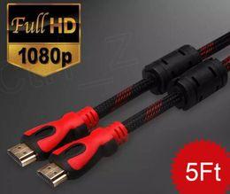 кабель ethernet 5ft Скидка 1,4 в 5 футов HDMI кабель с Ethernet для мужской мужской кабель 1.4 в 3D с разрешением 1080p, 4К*2К HDMI кабель 1,5 м