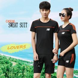 Wholesale Table Tennis Suit - Sports Suit Dry-Cool Table Tennis Clothes Sets Men's Women Sports Badminton 1 Set Couple Models Casual Summer Short-Sleeved T-shirt Suit Me