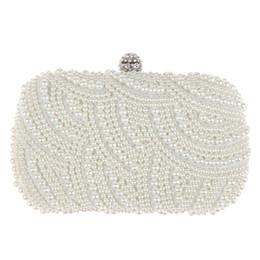 4a2d0d90cd Pochette a forma di ovale perline Donna Borsa a tracolla bianca Elegante  tracolla a catena da sposa Borsa da sposa frizione femminile borse da sposa  bianche ...
