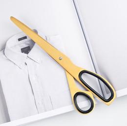 Ciseaux ergonomiques tout usage de métal de 7,8 pouces pour l'usage de bureau / à la maison, ciseaux DIY d'acier inoxydable de poignée molle de poignée (ton d'or) ? partir de fabricateur