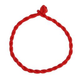 2019 linea rossa fortunata Braccialetto caldo degli uomini Braccialetto rosso della corda Braccialetti fortunati sulla gamba per la corda delle donne della corda Linea gioielli fatti a mano per il regalo dell'amante delle coppie linea rossa fortunata economici