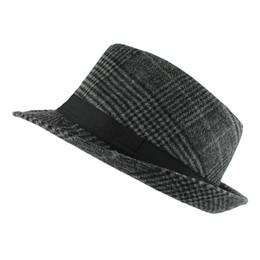 Wholesale Vintage Straw Hats - New Fashion Pure men Women's Large Brim Caps fedoras Floppy Jazz hat Vintage Popular wool caps