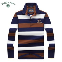Wholesale long sleeve polo style shirts - 2017high Quality Tops &Tees Men 'S Polo Shirts Fashion Style Winter Striped Brand Long Sleeve Polo Shirt Men Polos Solid Polo Shirt