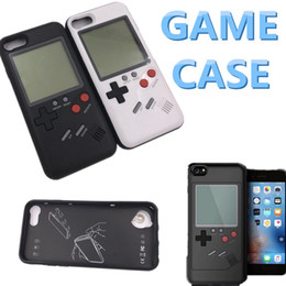 Wholesale Play Console Games - 1pcs Silicone Game machine designed mobile phone case Retro Game console Cases Play Cover Shockproof Protection mini Case For i X 8 7 6 Plus