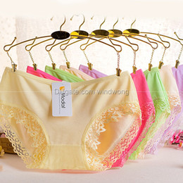 Wholesale Ladies Lace Panties - 70Z Sexy women ladies underwear lace panties girls panty L XL mix color free shipping