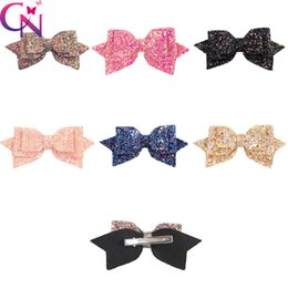 dancing hair Coupons - Glitter Hair Bow With Clip Bling Princess Hairgrips Dance Party Bow Hair Clip Girls Hairpins Hair Accessories 5 Style Option