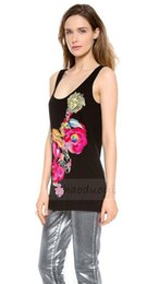 Wholesale Sexy Girls Spandex - Free shipping Color pattern round neck black girls vest