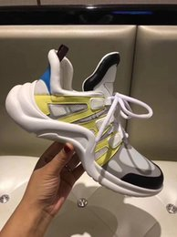 Wholesale Leather Fashion Boots For Women - 2018 Retro Brand women's arch summer Breathable Sneakers for men women Dad Shoe Running shoes fashion Casual outdoor boots dropship