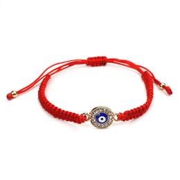 linea rossa fortunata Sconti whole sale2017 Fashion Braccialetto Evil Eye Red Line String Corda Braccialetto Of Fate Buon Lucky Thread intrecciato gioielli regalo di San Valentino