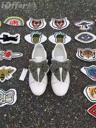 Canada vvtisks5 ACE NEW CHAUSSURES À LACTER FEMME SNEAKER PATCHS AMOVIBLES BOW Femmes Escarpins Mocassins Ballerines Ballerines Espadrilles Coins Sneakers Bottes cheap lace patches Offre