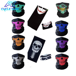 Wholesale Skull Scarf Red - 2018 seamless multi magic scarf riding around Halloween Mask warm Bo props variety Skull Scarf FREE SHIPING
