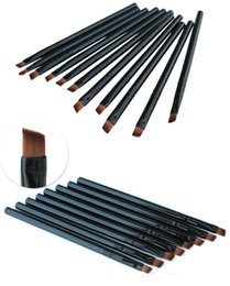 Wholesale Eyebrow Angle Brush - Hot Sales Foundation Angled Eyebrow Eye Liner Makeup Brushes Brow Tool Black Handle High Quality DHL Free Shipping
