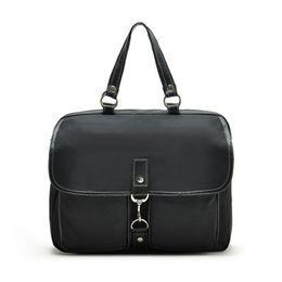 162740221781 2016 Necessaire Women Handbags Office Bag Men Business Briefcase hand bag  black Nylon Genuine Leather for 14 inch laptop