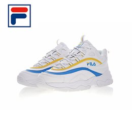 Wholesale Casual Shoes For Mens - 2018 New Athentic Folder X FILA ® Ray Dad Mens Designer Sports Running Shoes for Men Sneakers Women Luxury Brand Casual Trainers