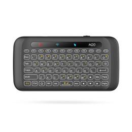 Argentina 2.4G de doble cara Mini teclado táctil inalámbrico H20 Touchpad de pantalla completa 2.4GHz Mini teclado inalámbrico para computadora portátil de escritorio Tablet Suministro