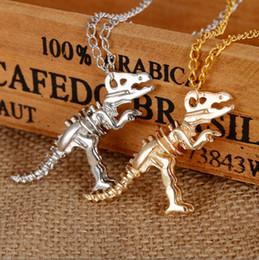 Sıcak Kolye Kolye Jurassic Dinozor İskeleti Tyrannosaurus Hayvanlar Kolye Punk Ucuz Kolye Toptan Moda Takı supplier cheap animal jewelry nereden ucuz hayvan mücevheratı tedarikçiler