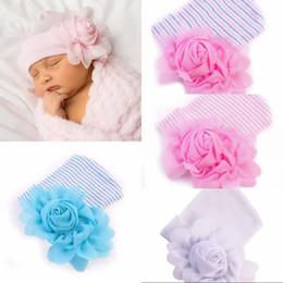 Wholesale flower knit hat - lovely newborn girls flowers hats caps winter baby hats wholesale infant knitted hat beanie crochet bonnets new