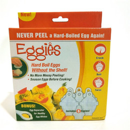 Wholesale Hard Boiled - Without The Shell Egg Poacher Useful Eggies Hard Boil Cooker Eco Friendly Plastic Eggs Steamer High Quality 3as XB