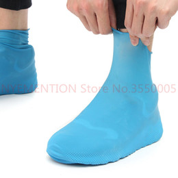 Argentina Goma antideslizante cubierta del zapato impermeable, reutilizable lluvia bota moto motocicleta, amarillo azul para hombres mujeres 10PCS Suministro
