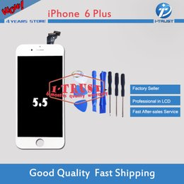 Wholesale Free Testing - Brand New LCD Display For iphone 6 Plus LCD Digitizer Grade Quality LCD Display 100% Tested Repair Replacement Parts With Free Shipping