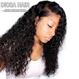Wholesale malaysian baby curly hair - Diosa deep curly hair wigs Lace Front 150% Density Human Hair Wigs Brazilian Remy full lace Wig With Baby Hair