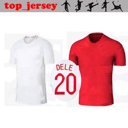 Wholesale England Home Jersey - 2018 ENGLAND jersey ROONEY thai quality 17 18 home white away red KANE STURRIDGE STERLING HENDERSON VARDY DELE DIER RASHFORD football shirt