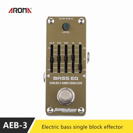 Wholesale Bass Single - AROMA AEB-3 Electric Beth EQ Bis 5 Stage Balanced Single Block Effect Device Guitar Bass Aluminum Alloy Effects